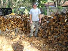 Rick with Firewood